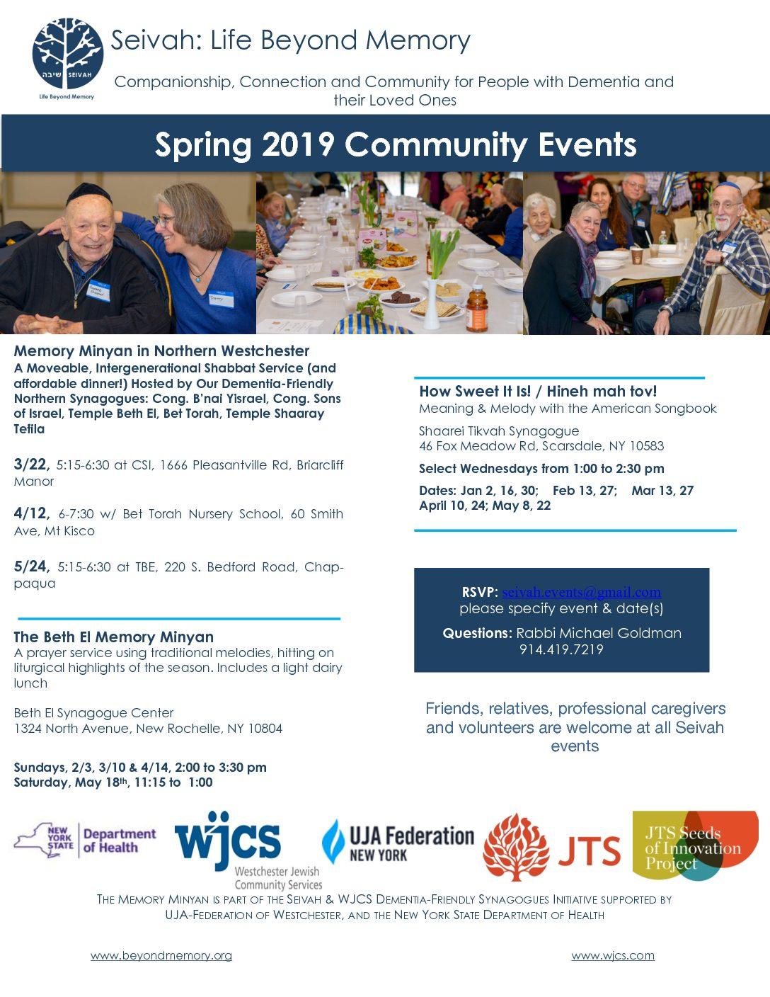 Discover Our Spring Programs! Join the Passover Memory Minyan on April 14